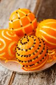 stock photo of christmas spices  - Christmas oranges - JPG