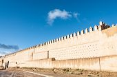 foto of fortified wall  - Ancient fortified wall in the city of Fez Morocco Africa - JPG