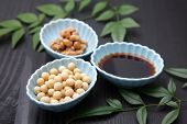 pic of soybeans  - group shot of fresh Natto  - JPG