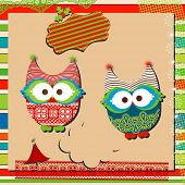 pic of snow owl  - christmas cute owls  - JPG