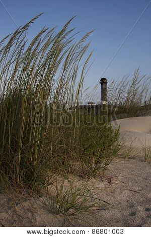 Isle of Palms Seat Oats and Lighthouse