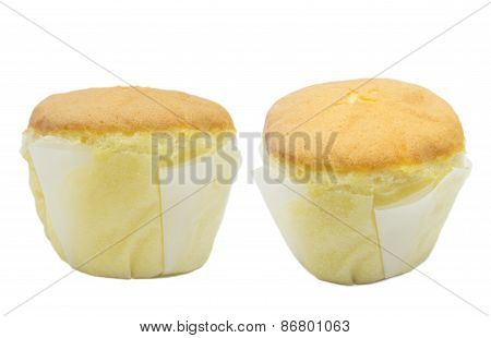 A Muffin With Vanilla Flavor Isolated