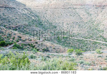 Klipspringer Pass In The Karoo National Park.