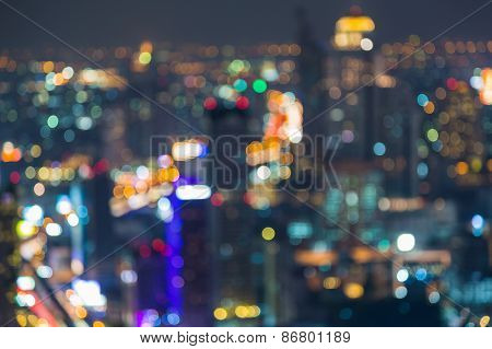 Blurred abstract of beautiful cityscape view
