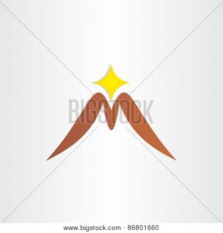 Mountain Letter M Symbol