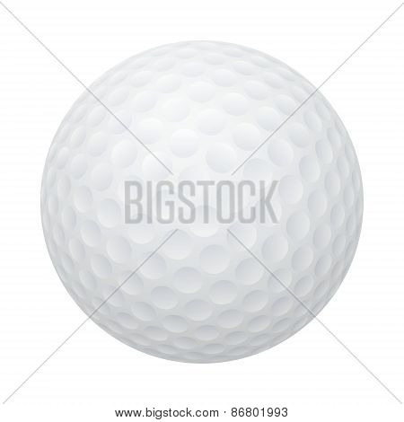 Vector golf ball isolated on white.