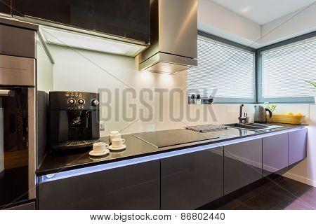 Elegant Silver Kitchen Top