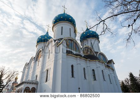 The great Trinity monastery in Sergiyev Posad near Moscow.Golden Ring of Russia
