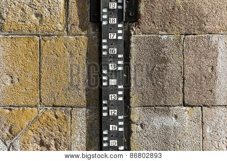 Water measurement gauge.