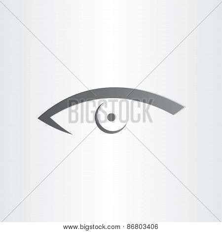 Human Eye Stylized Icon