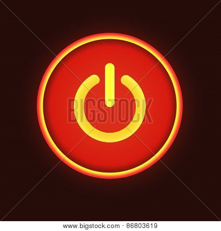 Red neon vector button vector illustration