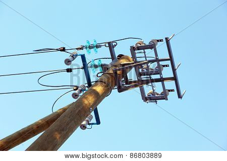 A Pillar Of Power Line