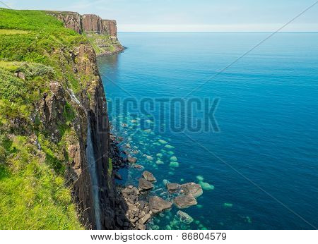 Waterfall and Kilt rock
