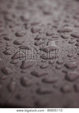 Full Frame of Water Drops on grey background