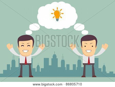 Businessmen thinking . Vector