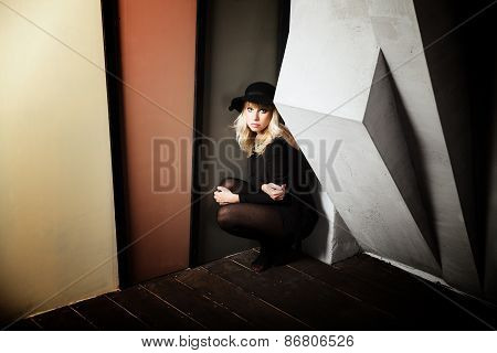 Beautiful Young Woman Wearing A Hat