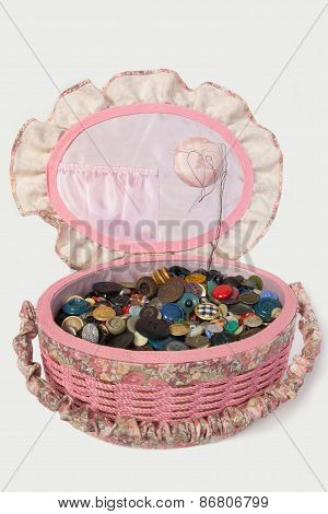 The basket for sewing accessories