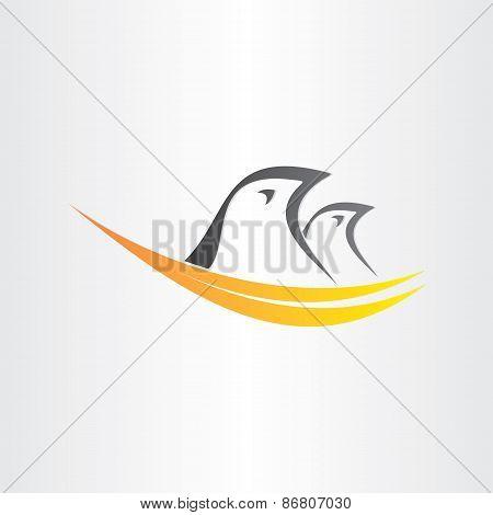 Birds In Nest Stylized Icon