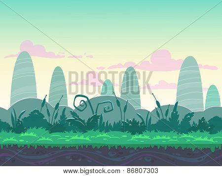Seamless morning landscape