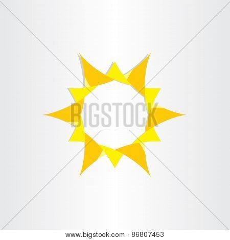 Yellow Sun Sunshine Icon Background Vector Design