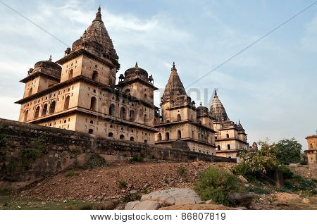 Group Of Cenotaphs In Orchha