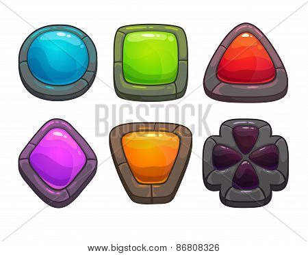 cartoon colorful stones