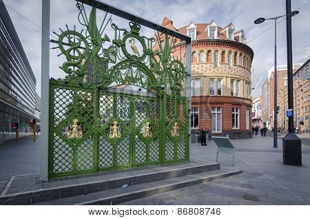 Green Gates In Liverpool, Uk