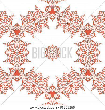 Openwork Lace Pattern Seamless Red