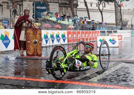 Athlete wheelchair marathon
