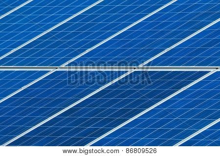 Solar Panels Grid Close Up