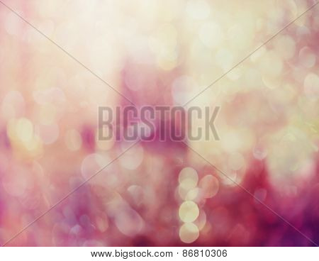 Abstract Pink Background With Sparkling Bokeh