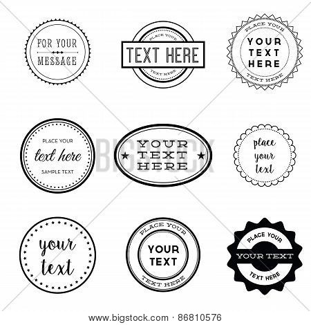 Vector Set of Retro Stamps and Badges