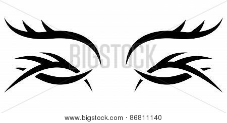 Vector Gothic Pattern. Eyes