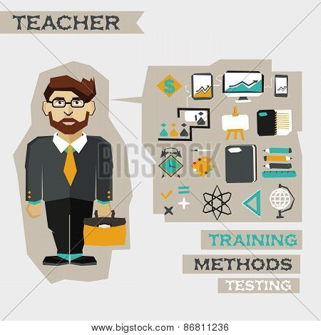 Freelance Career Infographic. Teacher.