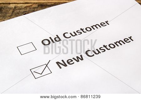 Old Customer And New Customeer For Check Boxes