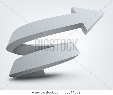 Abstract vector illustration, 3d arrow