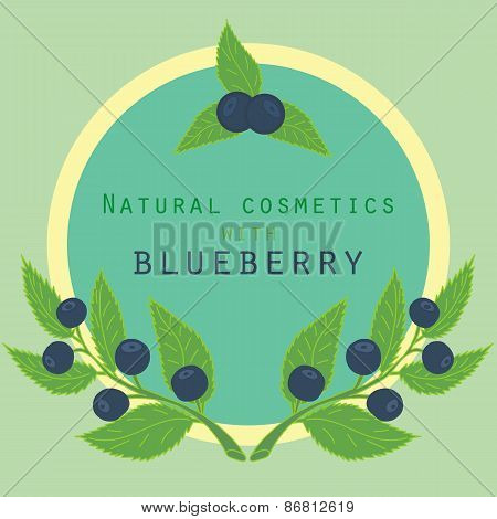 Blueberries label.