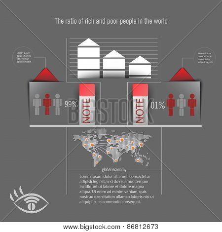 Infographics On A Gray Background. Infographics For Business.