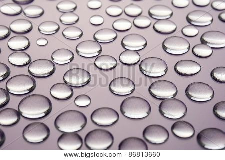Droplets Of Water On A Gray Background