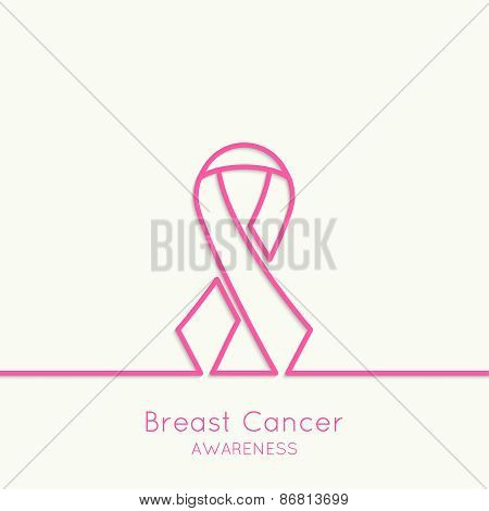 Breast Cancer Awareness Ribbon.
