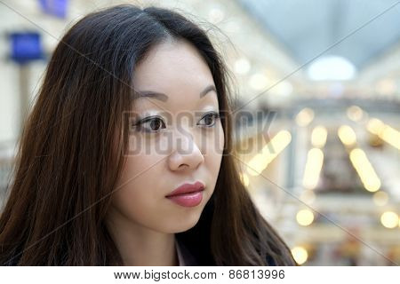 Young Korean girl, a sad sight.