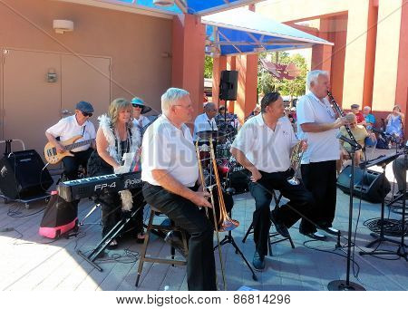 Chandler, Az/usa - March 28: 52nd Street Jazz Band perform at the Chandler Jazz Festival.