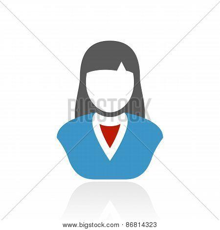 Color Businesswoman Icon