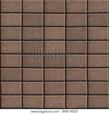 Brown Paving Slabs - Rectangles of the Single Size.