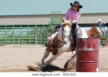 Young Barrel Racer