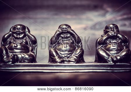 Three Figures Of Buddah Philosophy
