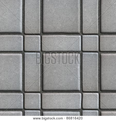 Gray Paving Slabs - Small Squares and Rectangles.