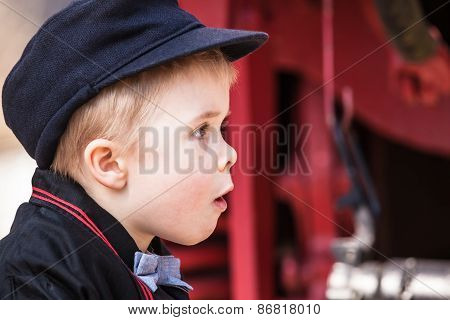 Portrait of Wondering Preschool Child