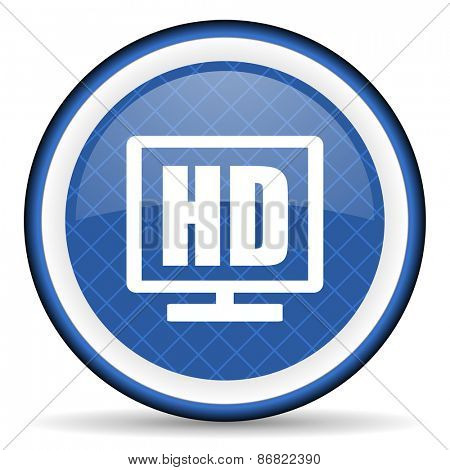 hd display blue icon