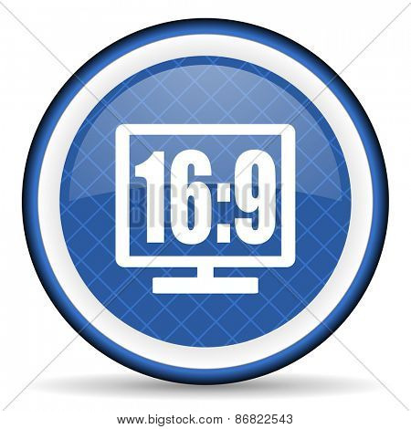 16 9 display blue icon